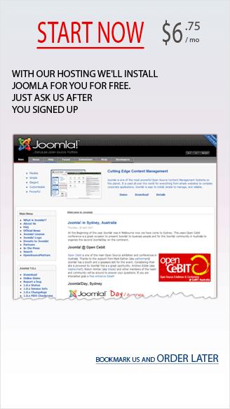 Nice banner for Joomla hosting