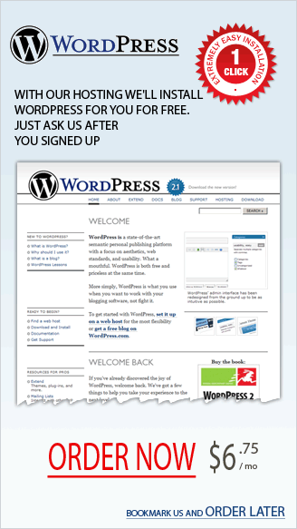 Nice banner for WordPress hosting